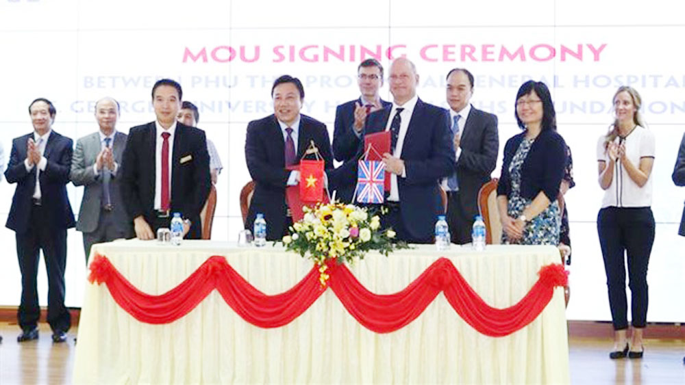 Vietnamese, British hospitals, stroke treatment, memorandum of understanding, health service provision, stroke treatment, international standards