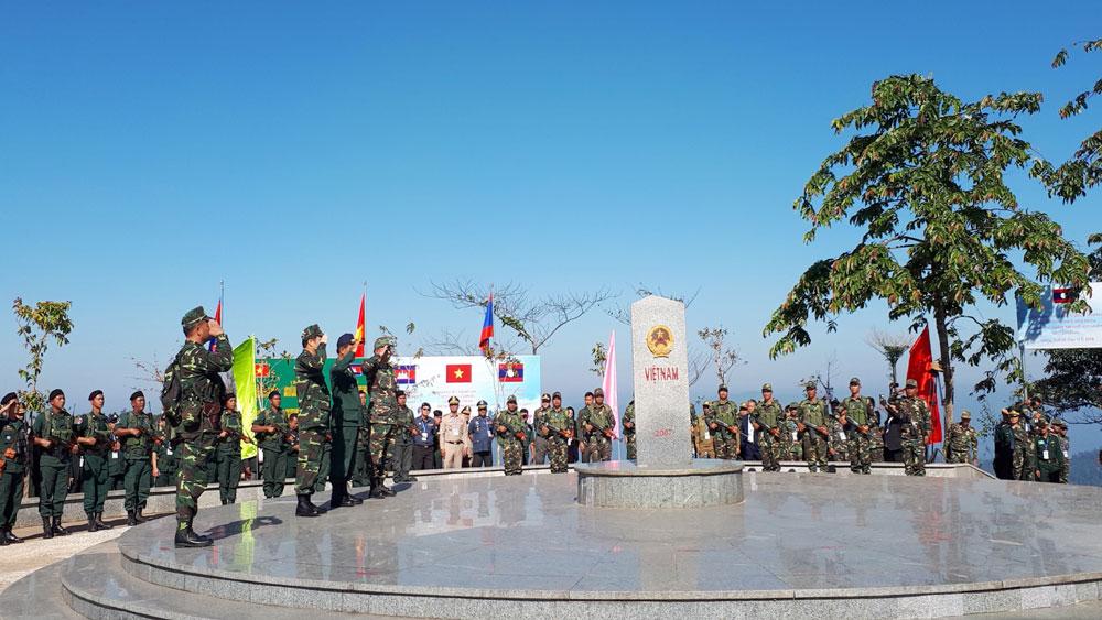 Lễ chào, cột mốc, chứng kiến, tuần tra chung, 3 nước Việt Nam-Lào-Campuchia