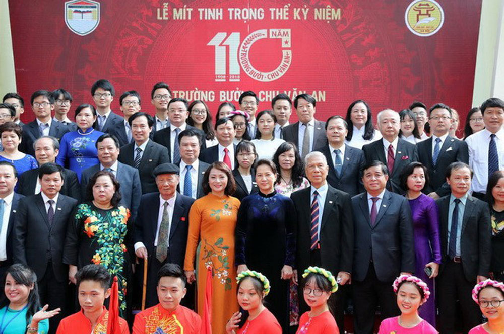 Chu Van An High School, Independence Order, Chairwoman, National Assembly, Nguyen Thi Kim Ngan, 110th anniversary, prestigious schools