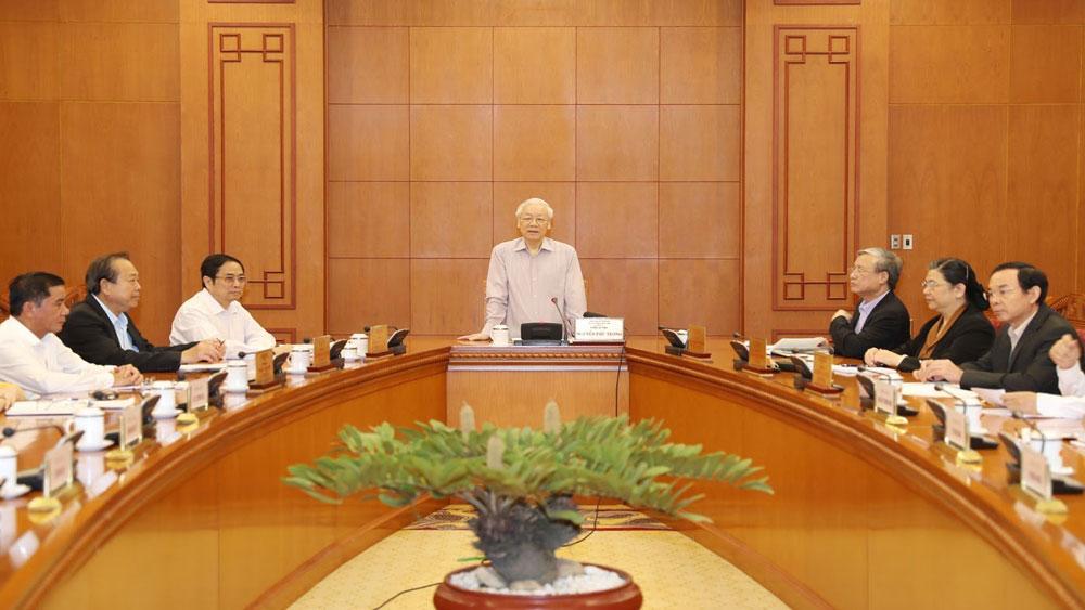 Tổng Bí thư, Chủ tịch nước Nguyễn Phú Trọng, xây dựng, quy hoạch, cán bộ, chiến lược