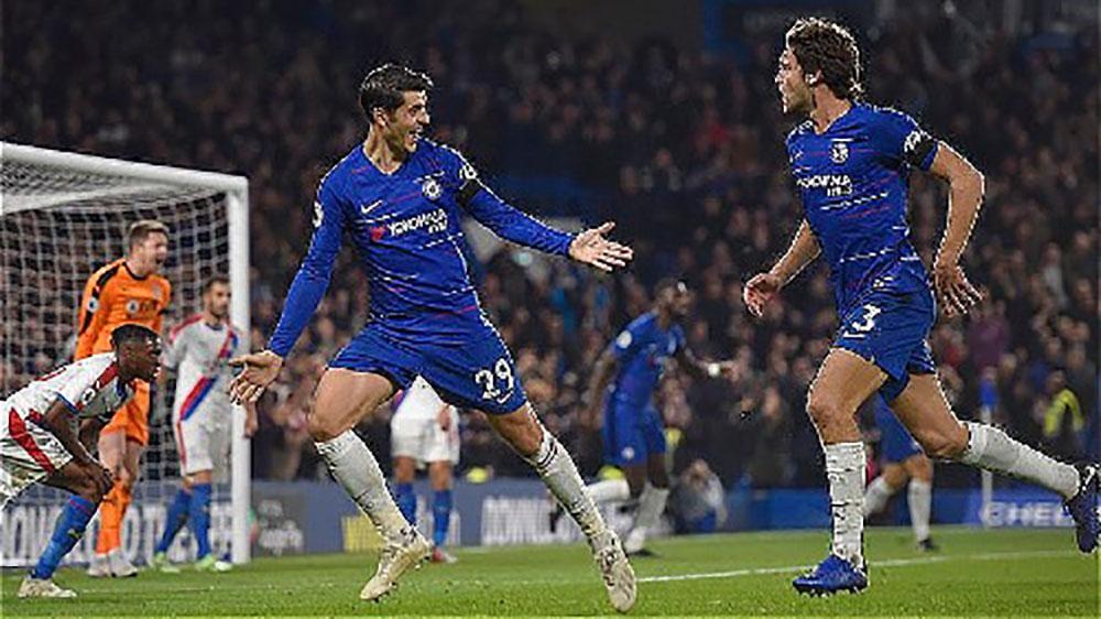 Morata, Chelsea, Ngoại hạng Anh, Crystal Palace