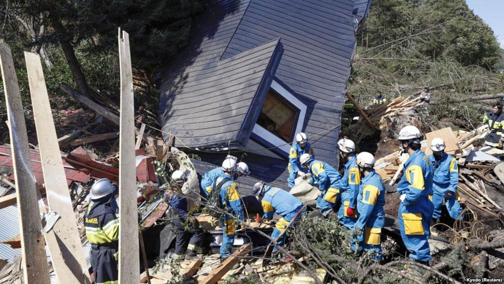 Động đất tại đảo Hokkaido của Nhật Bản
