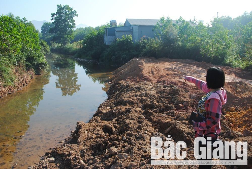 lấp suối, hậu quả khôn lường, sơn động, thị trấn Thanh Sơn
