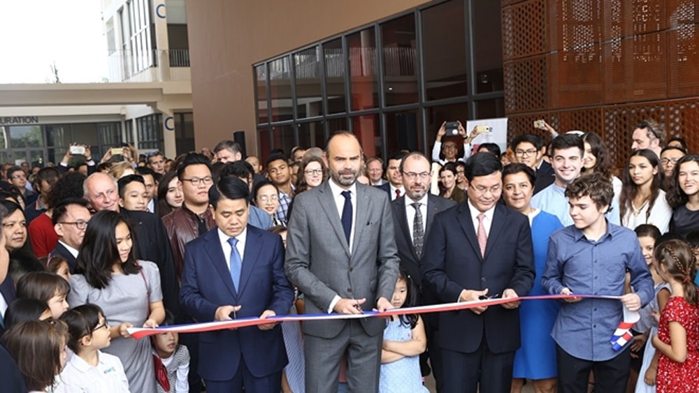 French PM, International School, Alexandre Yersin, inauguration ceremony, French architectural style, students' learning needs, biggest international schools