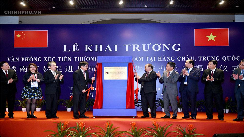 Thủ tướng, dự khai trương, Văn phòng, xúc tiến, thương mại, thứ 2, Việt Nam, Trung Quốc