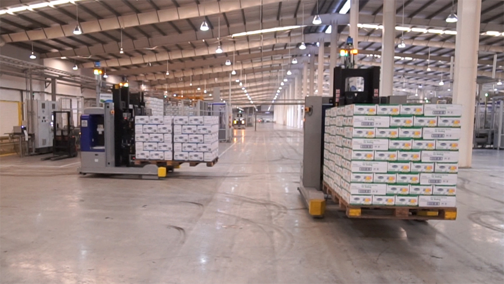 Robot bốc dỡ hàng hoá trong nhà máy ở Việt Nam