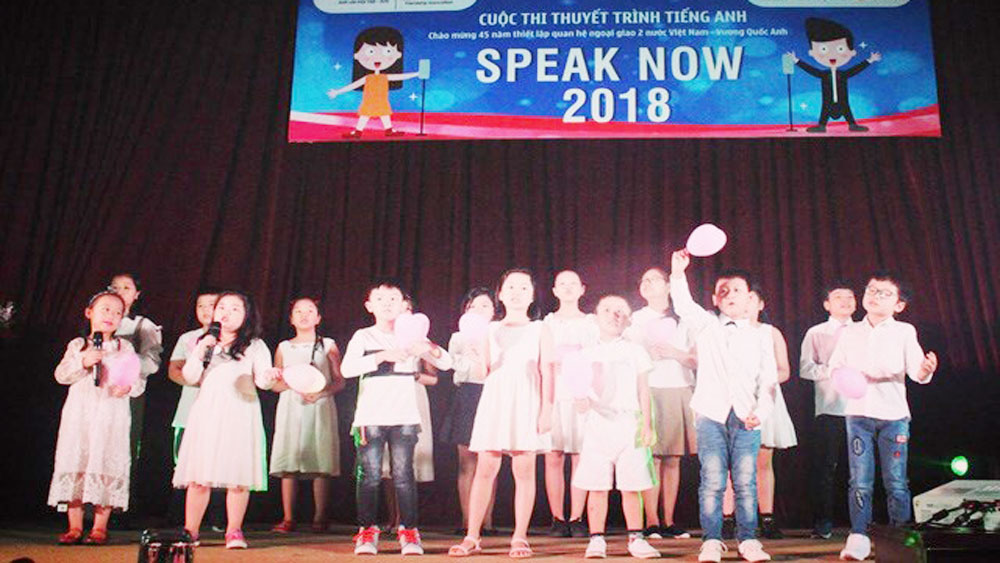Sixteen excellent children compete at Speak Now 2018 final