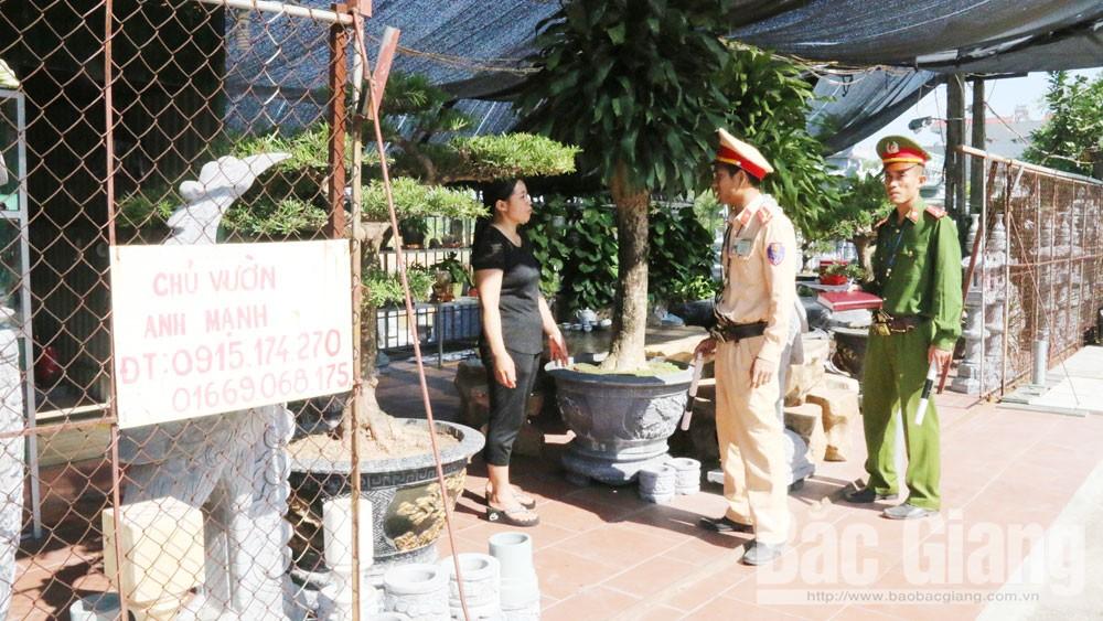 Vi phạm hành lang ATGT tại xã Hồng Thái (Việt Yên): Xử lý chưa triệt để