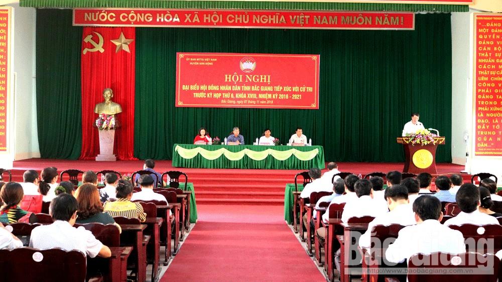 Phó Chủ tịch UBND tỉnh Dương Văn Thái tiếp xúc cử tri huyện Sơn Động