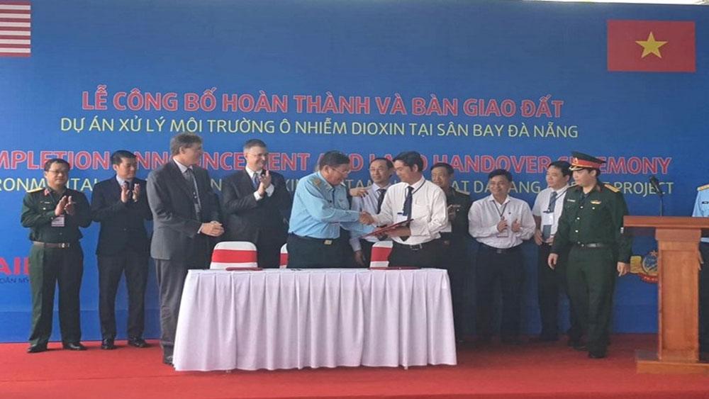 Hoàn thành, xử lý, ô nhiễm Dioxin, sân bay, Đà Nẵng