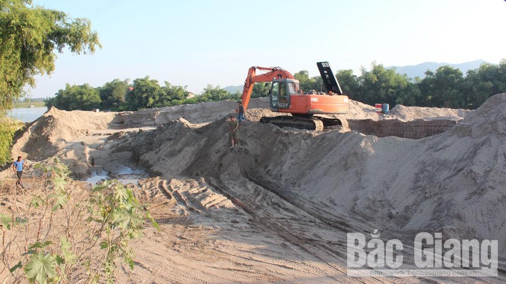 Bắc Giang, chủ bến bãi, tập kết, kinh doanh cát, sỏi, thuê đất, thất thu, ngân sách nhà nước