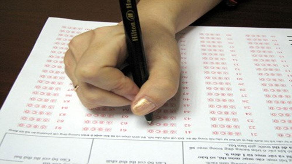 Đánh phách điện tử, phiếu trả lời, trắc nghiệm, kỳ thi THPT quốc gia 2019