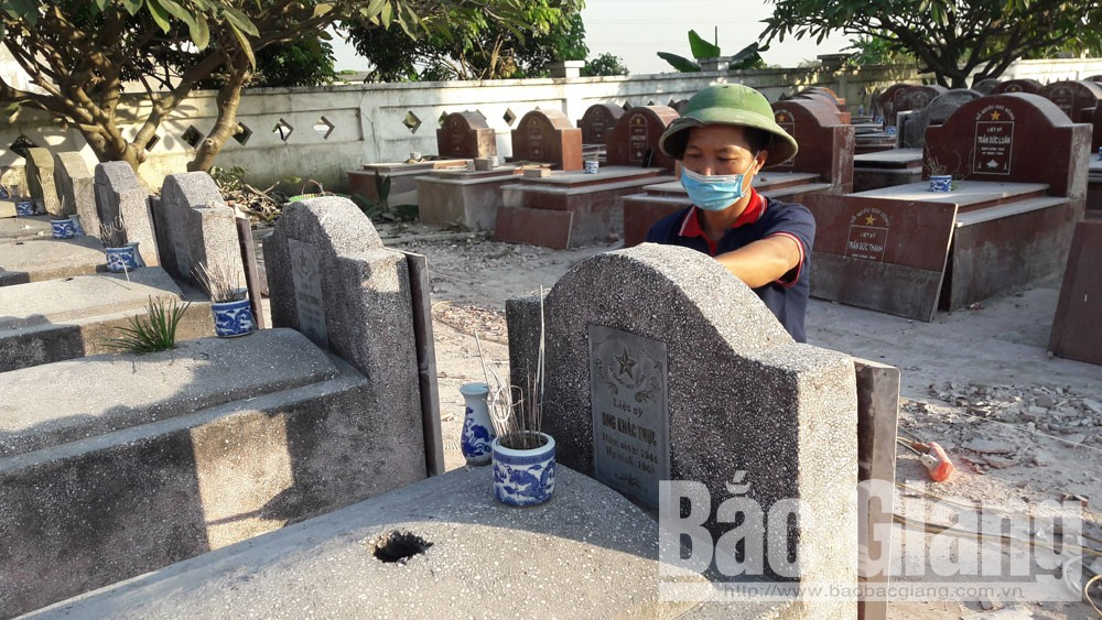 Yên Dũng, 1,7 tỷ đồng, tu sửa, nghĩa trang liệt sỹ.