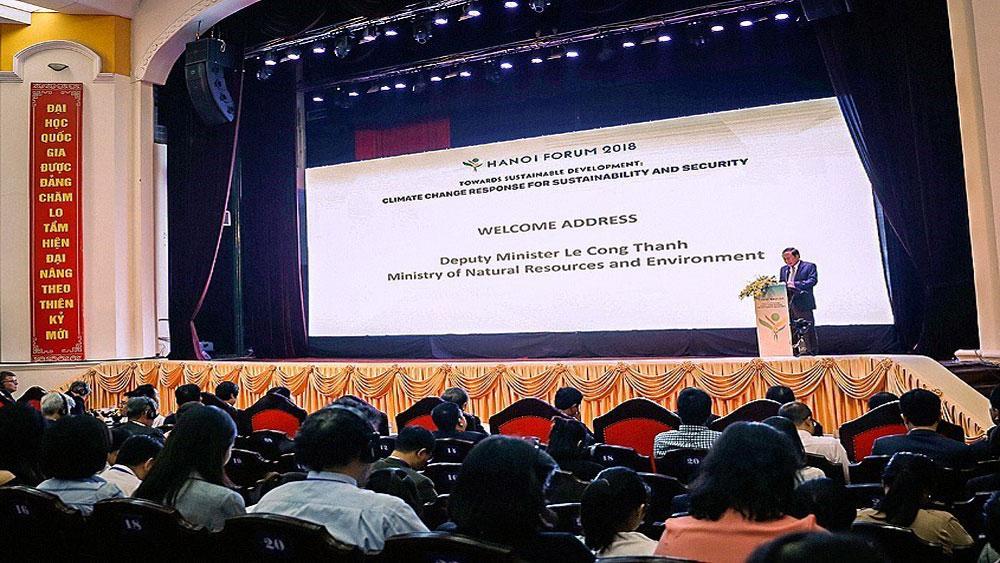 Khai mạc, Diễn đàn Hà Nội năm 2018 , ứng phó biến đổi khí hậu