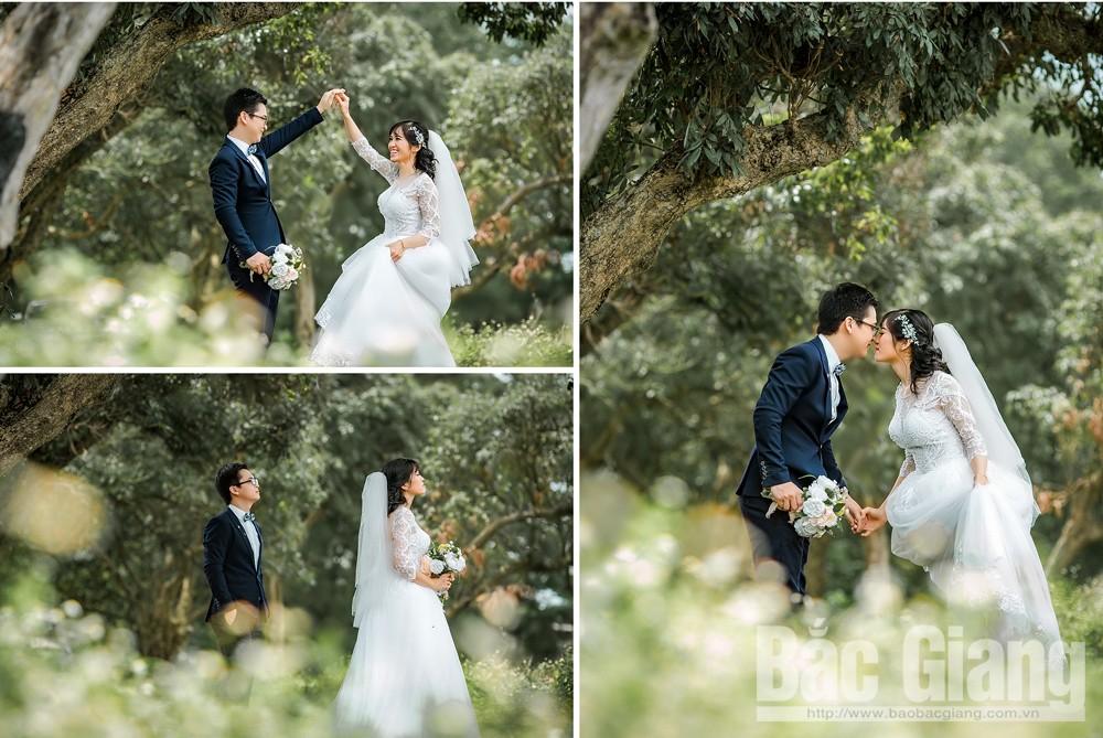 Hình ảnh gần gũi thiên nhiên, nét đẹp độc đáo trong bộ ảnh cưới.