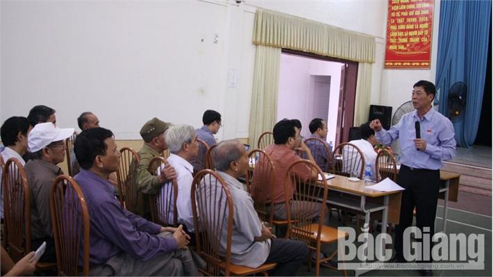 Đại biểu HĐND tỉnh khóa XVIII tiếp xúc cử tri TP Bắc Giang