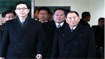Phái đoàn Triều Tiên tới Hàn Quốc