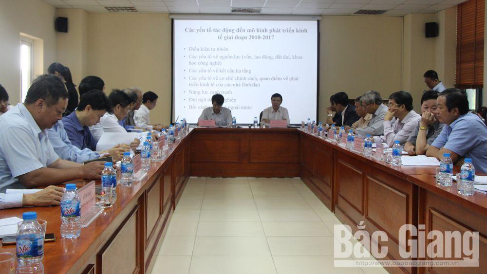 """Tư vấn phản biện đề án """"Đổi mới mô hình phát triển kinh tế tỉnh Bắc Giang đến năm 2030"""""""