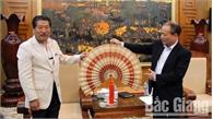 Hội Hữu nghị Nhật- Việt vùng Chukyo thăm và làm việc tại tỉnh Bắc Giang