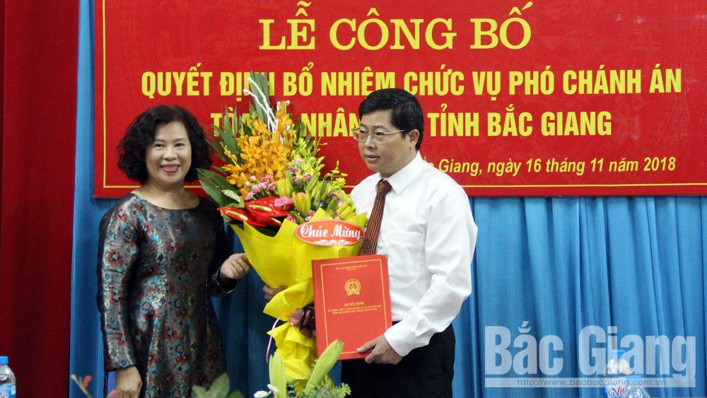Lương Xuân Lộc, Tòa án nhân dân tỉnh Bắc Giang