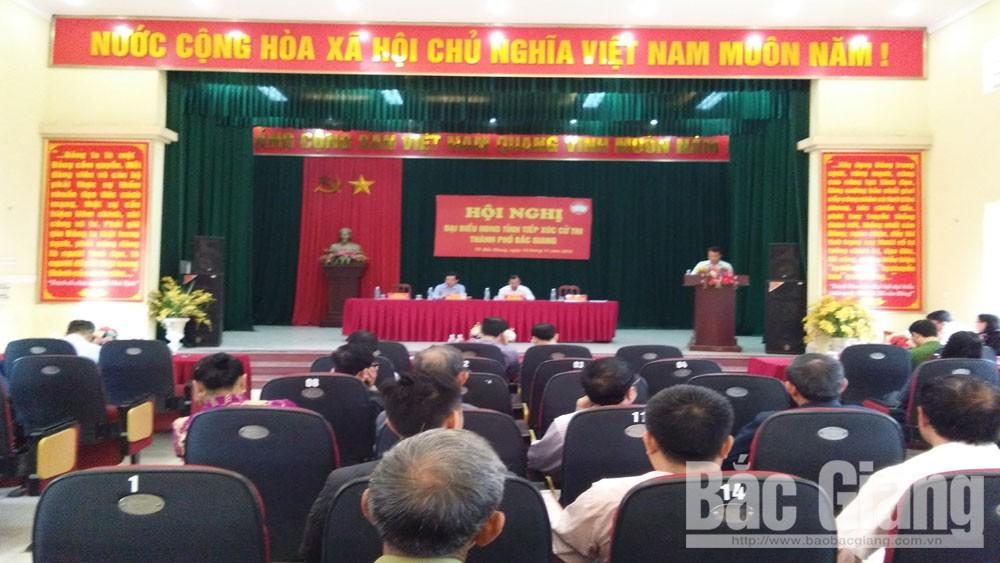 TP Bắc Giang nâng cao chất lượng tiếp xúc cử tri