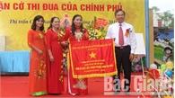 Trường Tiểu học thị trấn Cao Thượng kỷ niệm 20 năm thành lập và đón nhận Cờ thi đua của Chính phủ
