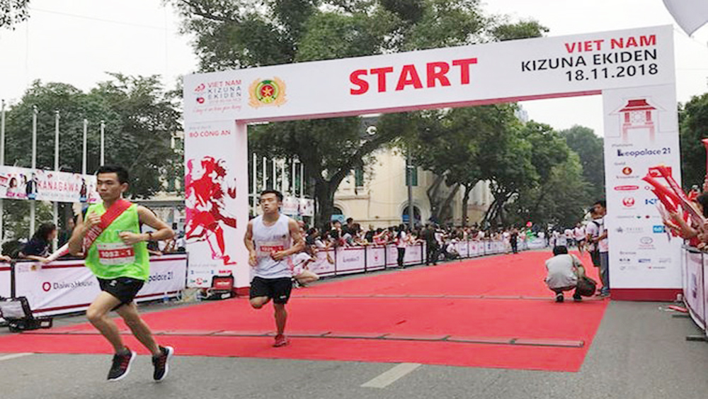 Traffic Safety, Vietnam – Japan relations,  Kizuna Ekiden Relay Run,  Mainichi Shimbun Group, Ministry of Public Security, diplomatic relations, mutual understanding