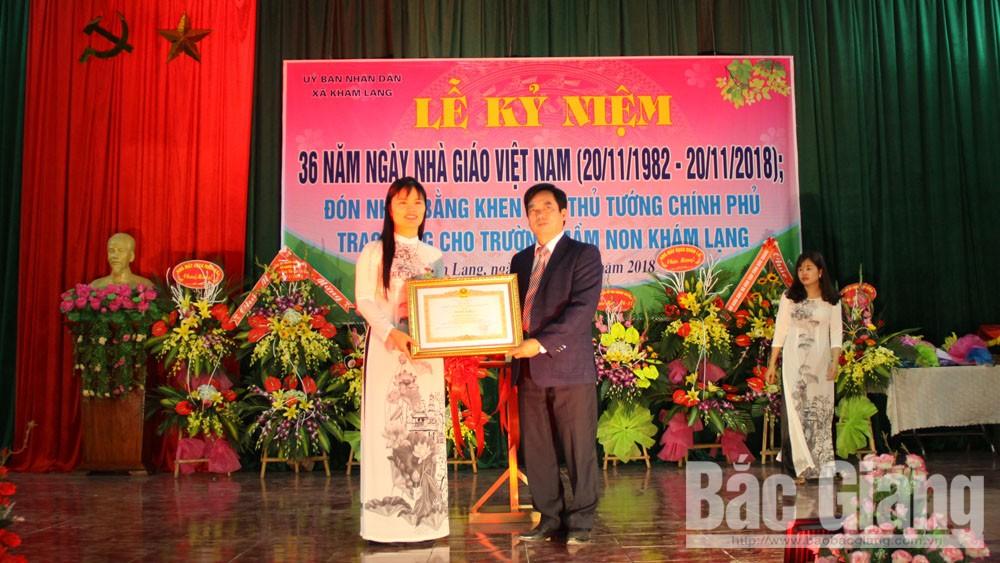Trường Mầm non xã Khám Lạng nhận Bằng khen của Thủ tướng Chính phủ