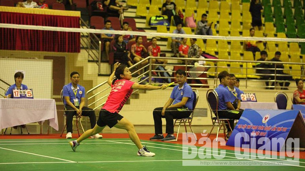 Bac Giang province, women's team badminton, National Sports Games, final match, choky scenario, careful personnel preparation, talented young racket, double's matches, physical strength, reasonable play