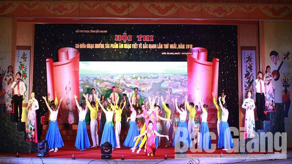 Hội thi ca - múa - nhạc các tác phẩm viết về Bắc Giang