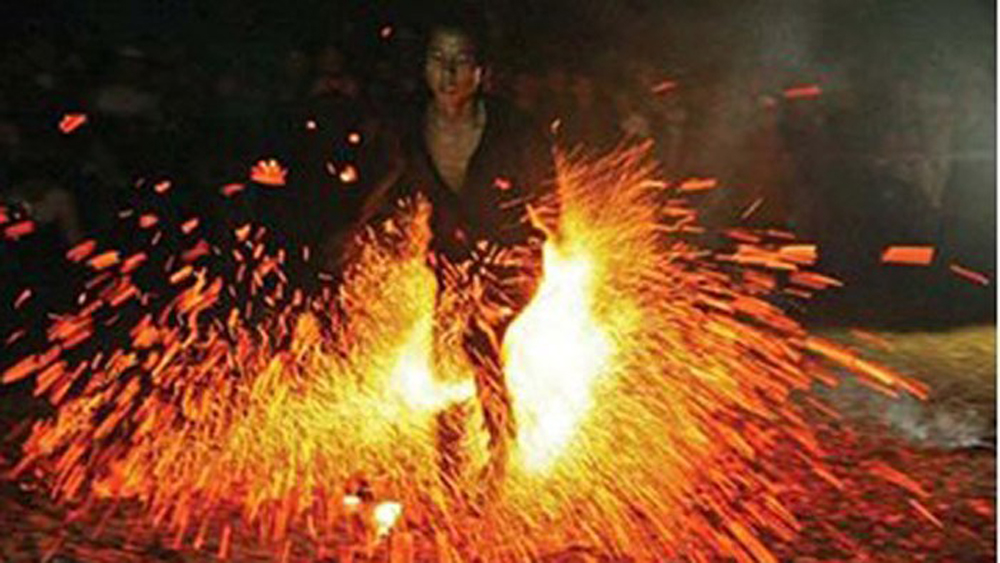 Red Dao ethnic group, fire dance festival, Dien Bien province, peace and prosperity, total population, Dao ethnic households