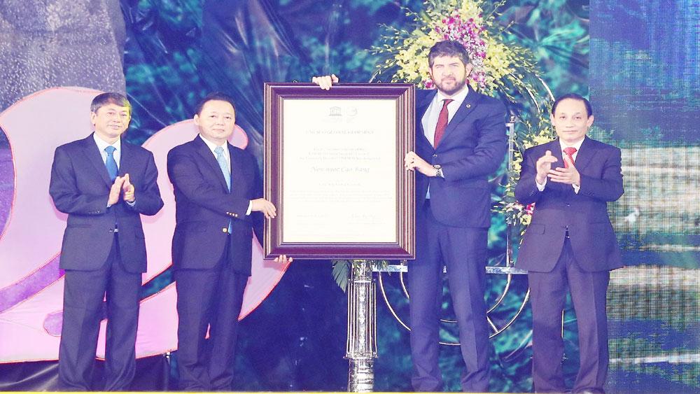 Cao Bằng đón nhận danh hiệu Công viên địa chất Toàn cầu, Di tích đặc biệt quốc gia