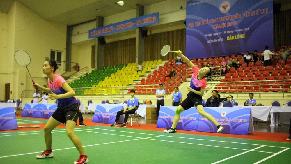 Đại hội Thể thao toàn quốc năm 2018: Bắc Giang góp mặt ở 7 trận tứ kết nội dung cá nhân môn cầu lông