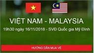 Mua vé online trận bán kết lượt về Việt Nam-Philippines như thế nào?