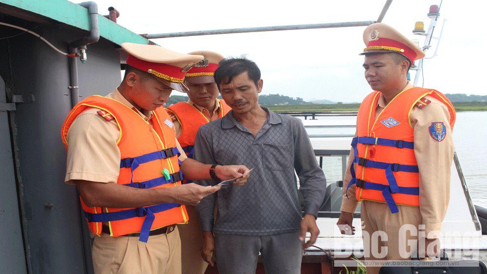 Phòng Cảnh sát giao thông Công an tỉnh Bắc Giang, sông nước, sông Thương, sông Lục Nam, sông Cầu, giao thông đường thủy,