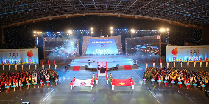 8th National Sports Games, kicks off, Hanoi, My Dinh National Stadium, physical exercises, medal tally, gold medal