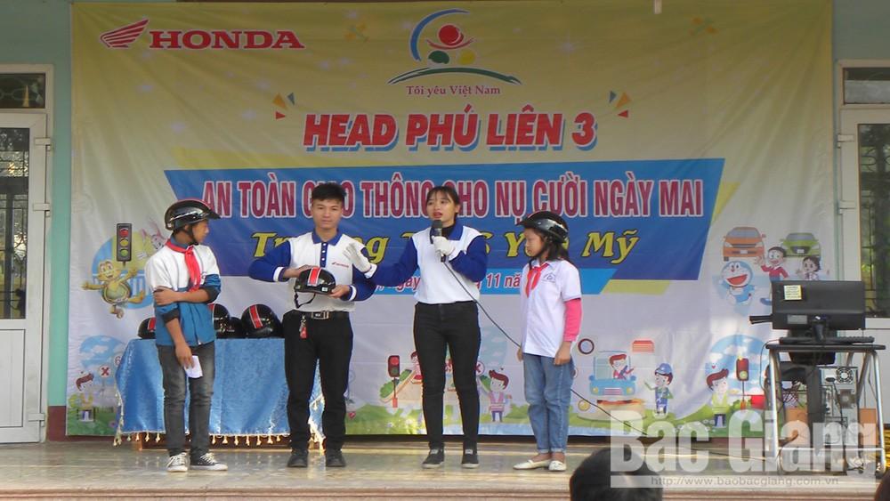 Lạng Giang; an toàn giao thông; THCS Yên Mỹ