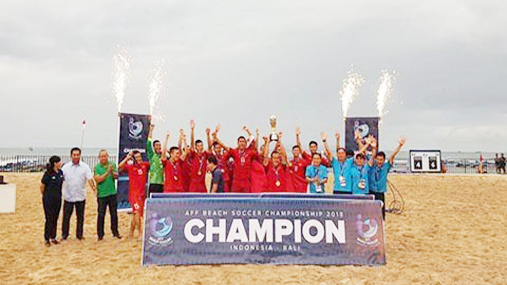 Vietnam champion ASEAN beach football tourney