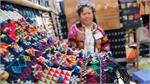 Bazaar shows charm of Vietnamese brocades