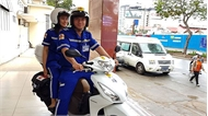 Thử nghiệm mô hình xe cấp cứu 2 bánh ở TP Hồ Chí Minh