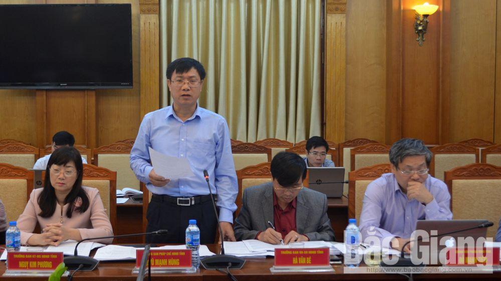 Bắc Giang, HĐND, họp thường kỳ, Bùi Văn Hạnh