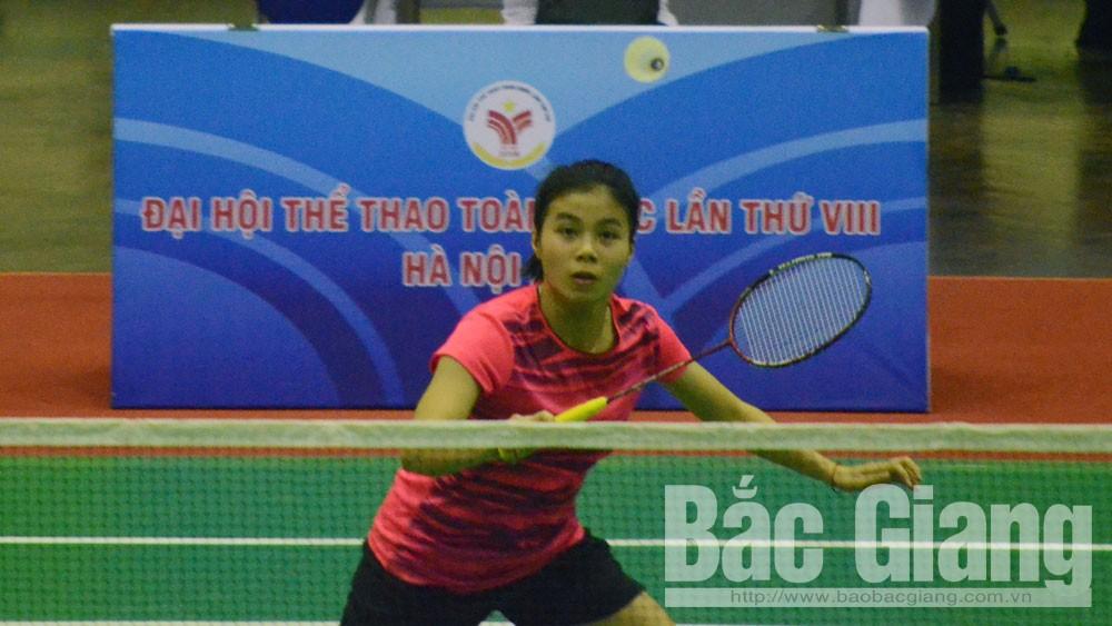 Đại hội Thể thao toàn quốc: Bắc Giang giành 1 HCV, 1 HCB, 2 HCĐ môn cầu lông