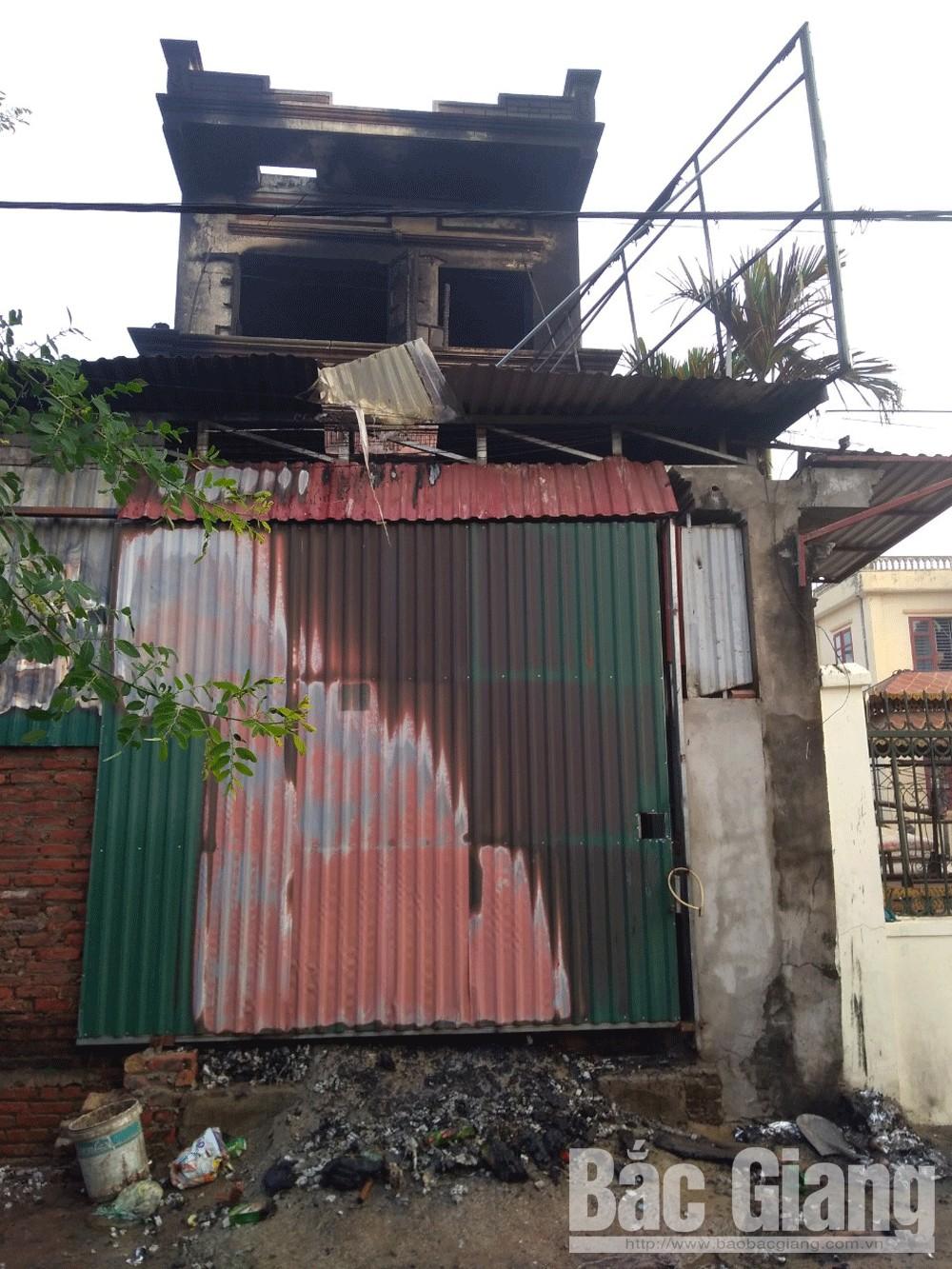 cháy nhà dân, Tân Mỹ, TP Bắc Giang