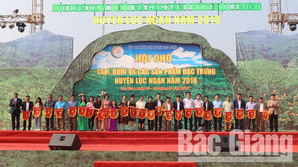 Bế mạc, Hội chợ, cam, bưởi, và, các sản phẩm, đặc trưng, huyện Lục Ngạn, năm 2018