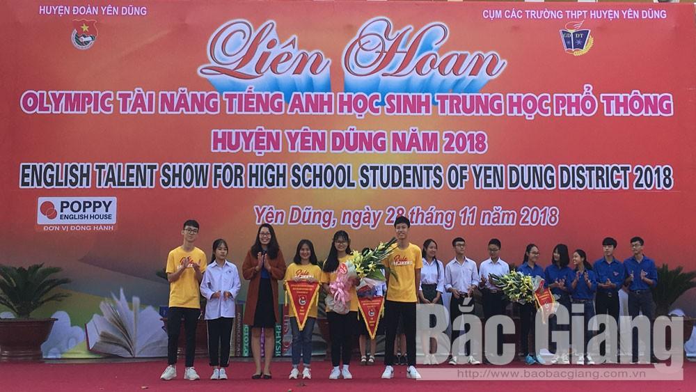Trường THPT Yên Dũng số 1 giành giải Nhất liên hoan Olympic tài năng tiếng Anh