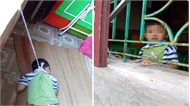 Xác minh vụ bé 4 tuổi bị buộc dây vào người, treo lên cửa sổ ở trường mầm non