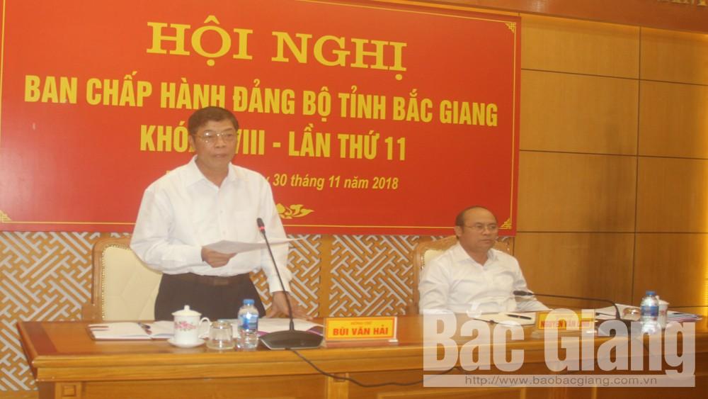 Bí thư Tỉnh ủy Bùi Văn Hải phát biểu chỉ đạo hội nghị.
