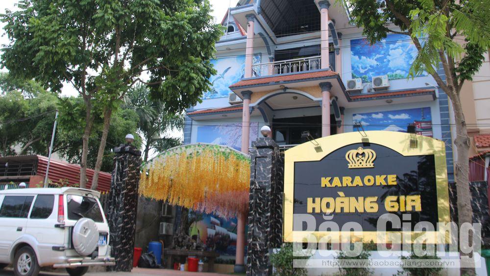 Sử dụng ma túy trong quán karaoke,  karaoke, Hoàng Gia, Karaoke Hoàng Gia, Công an huyện Lục Nam, ma túy, bóng cười, ma túy đá.