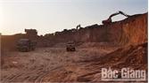 Khai thác đất san lấp mặt bằng trái phép tại huyện Lục Ngạn
