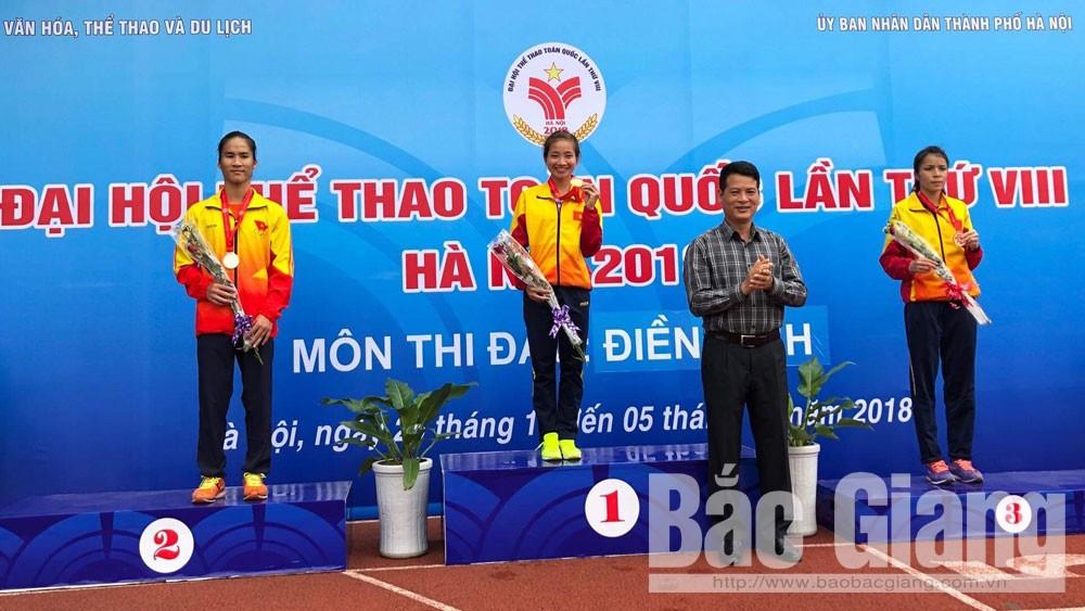 Nguyễn Thị Oanh, điền kinh, HCV chạy 3.000m, vượt chướng ngại vật, Báo Bắc Giang, Bắc Giang, Lạng Giang